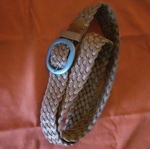 Aeropostale l womens brown braided leather belt